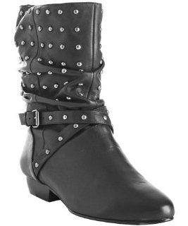 Pour la Victoire black leather studded Malena boots Shoes