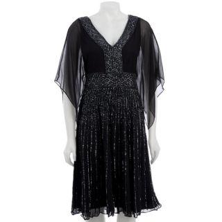 Patra Ltd Womens Silk Beaded Kaftan Dress