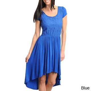 Stanzino Womens High low Criss Cross Back Dress