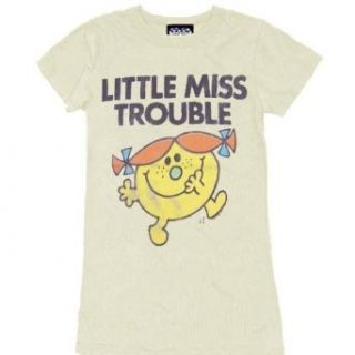 Junk Food Little Miss Trouble Cream Juniors T shirt Tee