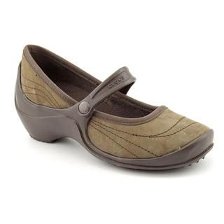 Crocs Girls Wrapped Wedge Regular Suede Dress Shoes (Size 2