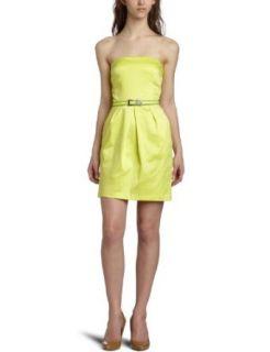 Jump Juniors Strapless Dress,Yellow,11/12 Clothing