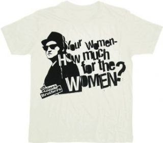 Blues Brothers How Much Women White T shirt Tee Clothing