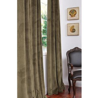 Signature Hunter Green Velvet 96 inch Blackout Curtain Panel