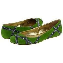 Juicy Couture Robbin Mint Tea Green Suede/Regal Navy/Angel Logo Ribbon