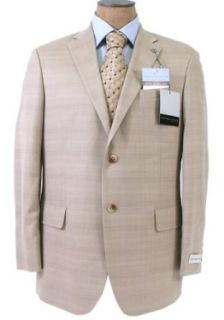 Geoffrey Beene Mens 2 Button Light Tan Wool Sport Coat