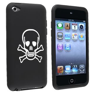Black with Skull/ Crossbones Case for Apple iPod Touch Generation 4
