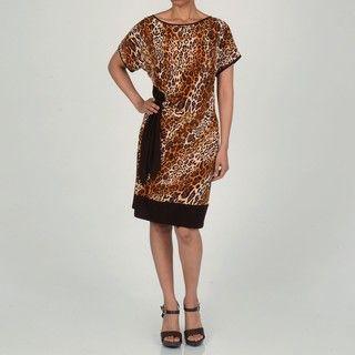 AnnaLee + Hope Womens Animal Print Dress