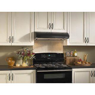 Broan Evolution 1 Series 30 inch Black Under cabinet Range Hood