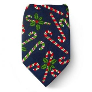 Mens Christmas Neck Tie Navy/Red/Green Clothing