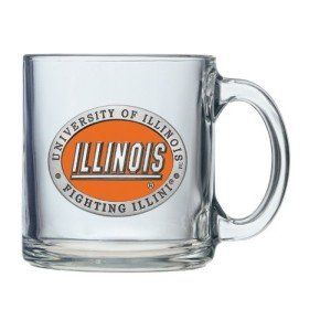 Illinois Fighting Illini Logo Clear Coffee Mug Set Sports