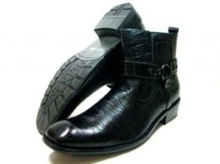 Mens Black Delli Aldo Casual Ankle High Boots Styled in Italy Shoes