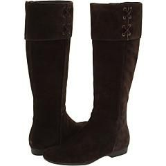 Enzo Angiolini Zebby Dark Brown Suede Boots