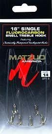 Matzuo Model 230 Gold Snelled Treble Hook 6 Pack Size 14