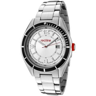 Red Line Mens Tread Silver Dial Stainless Steel Watch