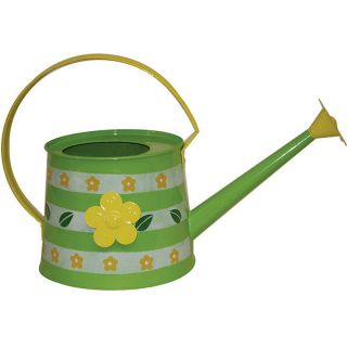 Hand painted 13 inch Metal Watering Cans (Set of 4)