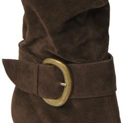 Bamboo by Journee Womens Jojo 13 Faux Cow Suede Boots