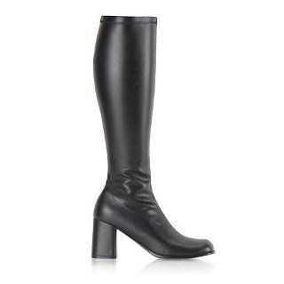 GOGO Boot With Block Heel Theatre Costumes Black Size: 16: Shoes