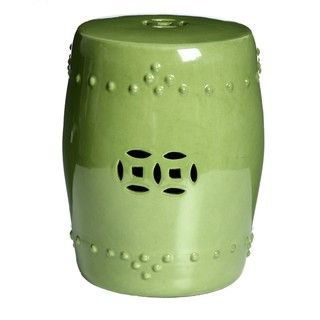 Porcelain Moss Green Stool (China)