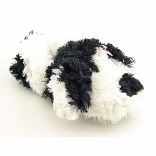 Kids Girlss Fuzzy Puppy White Slippers (Size 13)