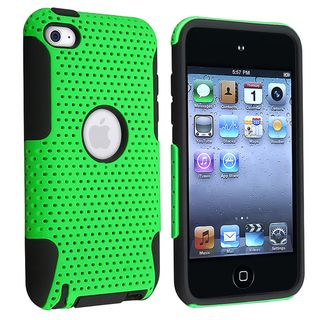 BasAcc Black/ Green Hybrid Case for Apple® iPod Touch Generation 4