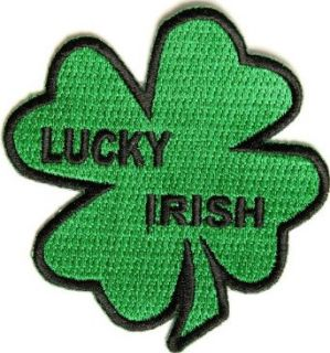 Embroidered Iron On Patch   Lucky Irish Pride Shamrock 3