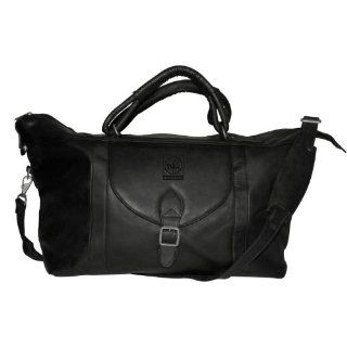 NBA Philadelphia 76ers Black Leather Top Zip Travel Bag