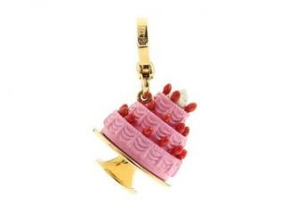 Juicy Couture Tiered Pink Cake Gold Charm Clothing