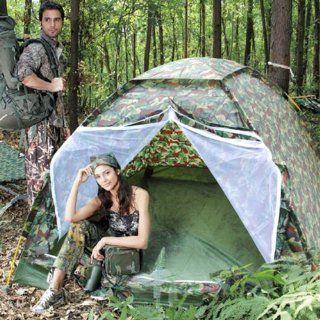 CVLIFE Hiking & Camping Camouflage 3 Person Instant Tent