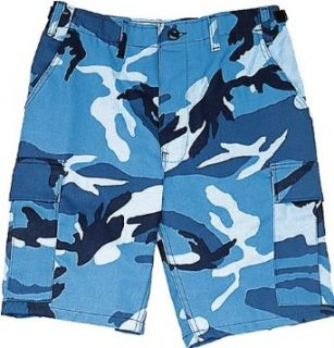 Sky Blue Camouflage Military BDU Cargo Shorts 65218 Size