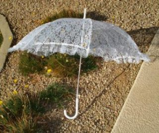 Girl size Lace Parasol, White #ELP001 Clothing