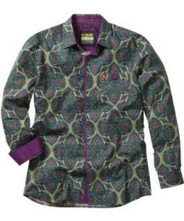 Joe Browns Mens Paisley Party Shirt, Green/Purple , Small