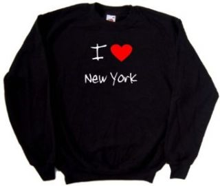 I Love Heart New York Black Sweatshirt Clothing
