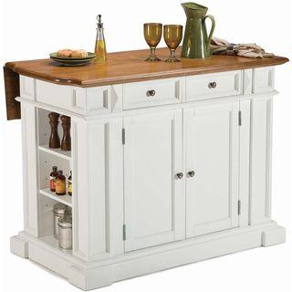 Home Styles White Distressed Oak Kitchen Island