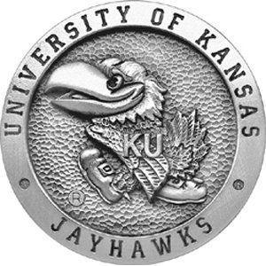 Kansas Jayhawks Belt Buckle   NCAA College Athletics