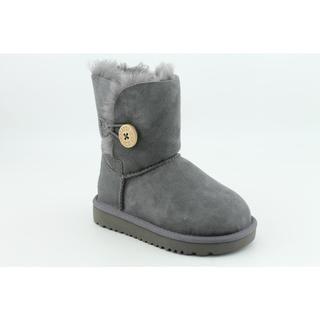 Ugg Australia Girls Bailey Button Regular Suede Boots (Size 7