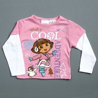 Nickelodeon Dora the Explora Toddler Girls Doubler T Shirt