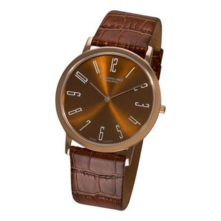 Stuhrling Original Mens Brown Belmont Ultra Slim Watch