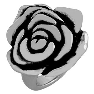 Sterling Silver Electroform Puffed Flower Ring