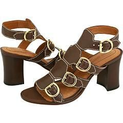 Corso Como Dominique Dark Brown Vintage Tumbled Leather Sandals