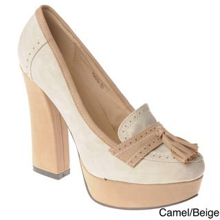 Henry Ferrera Womens Loafer Block heel Pumps
