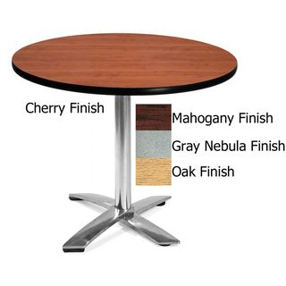 OFM 36 inch Round Table with Chrome Base