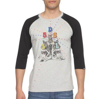55DSL T Shirt Teerleaders Homme Gris et noir   Achat / Vente T SHIRT