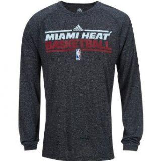 adidas Miami Heat Heathered ClimaLite Long Sleeve T Shirt