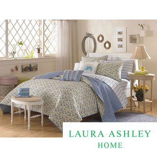Laura Ashley Carlie Blue Twin size Quilt