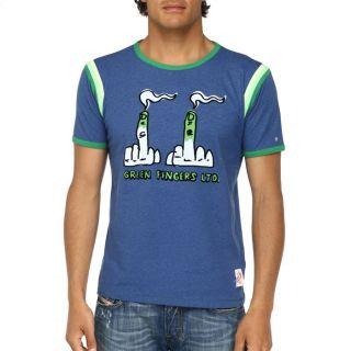 55DSL By DIESEL T Shirt Tristat Homme Bleu, vert et jaune   Achat
