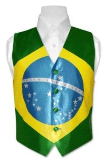 Boys Brazilian Flag Dress Vest for Suit or Tuxedo