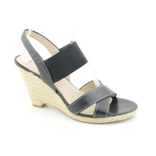 Kandi Open Toe Wedge Sandals Shoes Black Womens New/Display Shoes