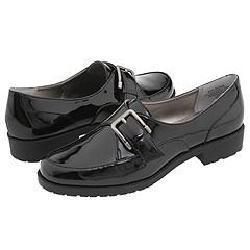 AK Anne Klein Leone Black Patent Loafers