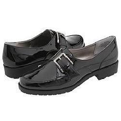 AK Anne Klein Leone Black Patent Loafers